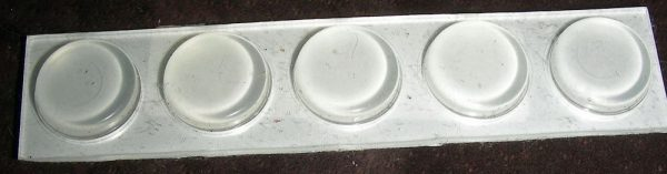 Clear Adhesive bumpers