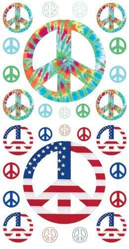 Peace Glitter Rub ons