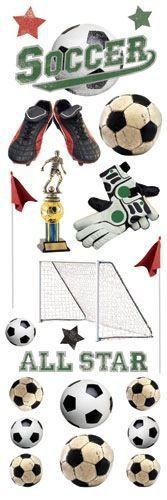 Soccer Glitter rub ons