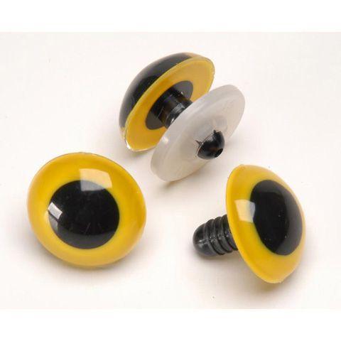 18mm Yellow Animal Eyes - 50 pc