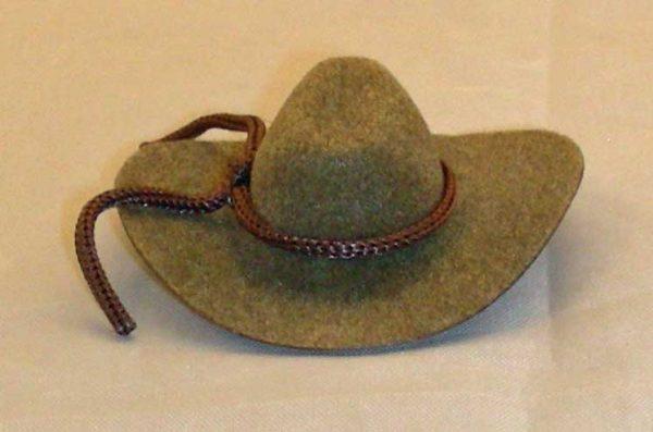 2 inch cowboy hat brown