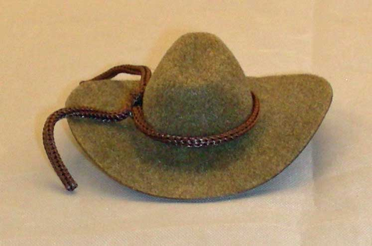 2 inch cowboy hat brown