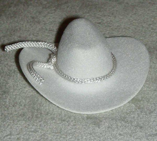 2 inch cowboy hat White