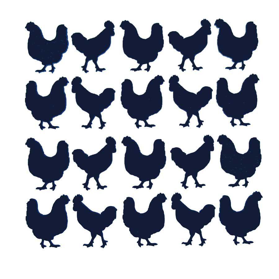 Vinyl Chickens Small