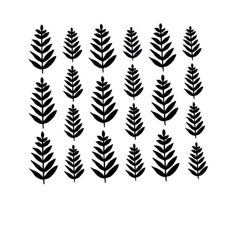 Vinyl Mini Ferns
