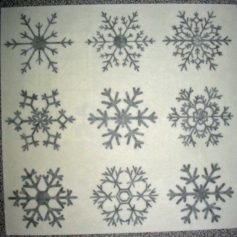 Vinyl Snowflake with Transfer Tape