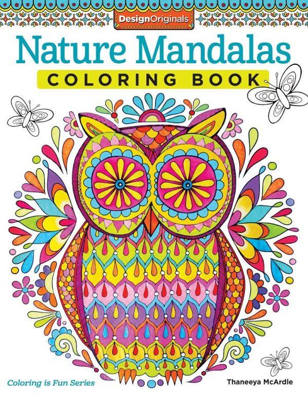 Natural Mandalas Coloring Book