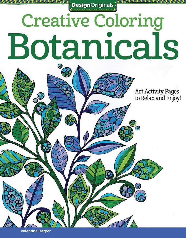 Creative Coloring Botanicals  Coloring Book