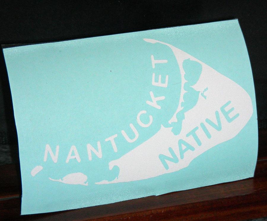 Nantucket Native Car Decal