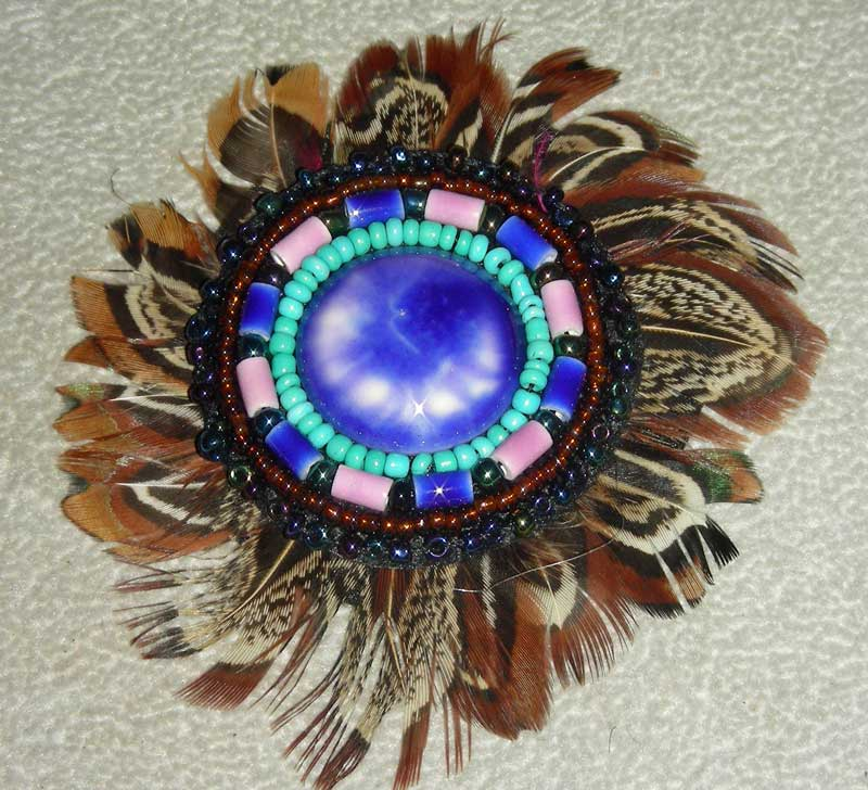 Feather Rosette w/Cab