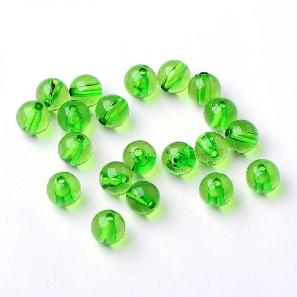 Round Acrylic Bead Green 8mm