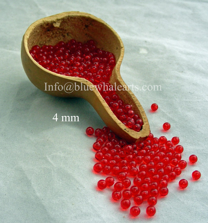 Gourd Light Beads from Turkey Red 4mm