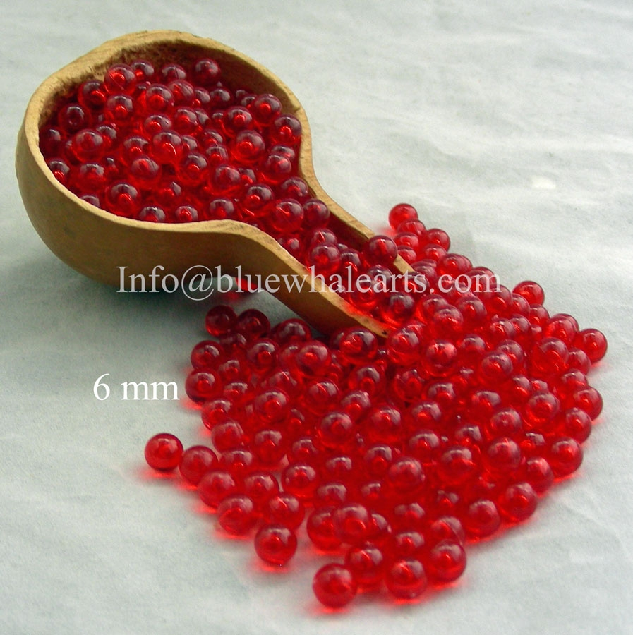 Gourd Light Beads from Turkey Red 6mm