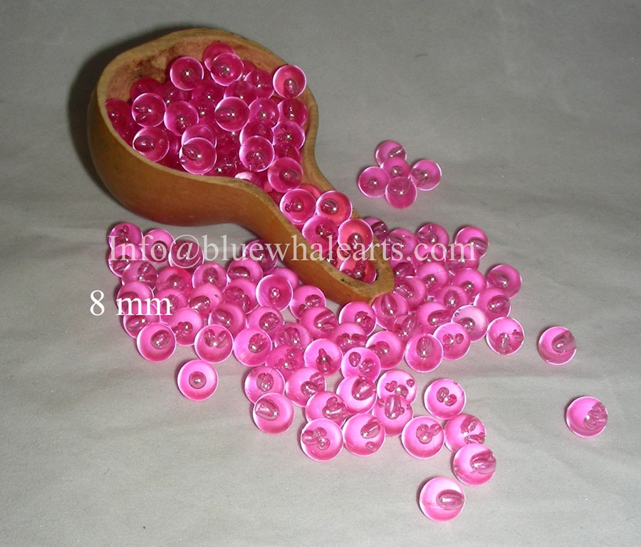 Gourd Light Beads from Turkey 8 mm Pink no hole bead