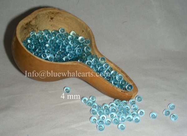 Gourd Light Beads from Turkey light blue 4 mm no hole bead