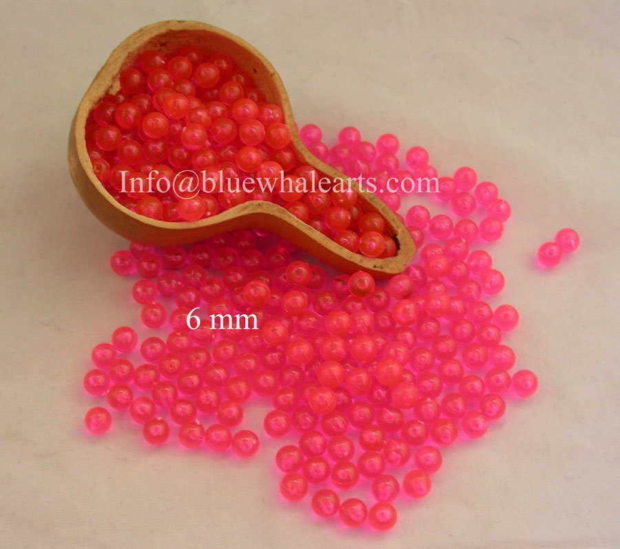 Gourd light beads from turkey - Gypsy Pink 6mm
