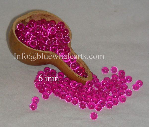 gourd Light beads from turkey fuchsia 6mm no hole