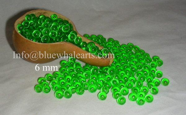Gourd LIght Beads from Turkey Green 6mm turkish beads