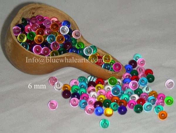 Gourd light beads from turkey mixed colors no hole 6mm