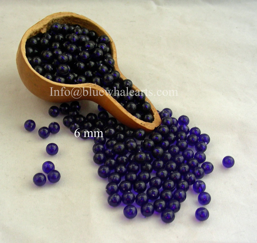 Gourd Light Beads from Turkey Purple 6mm turkish beads