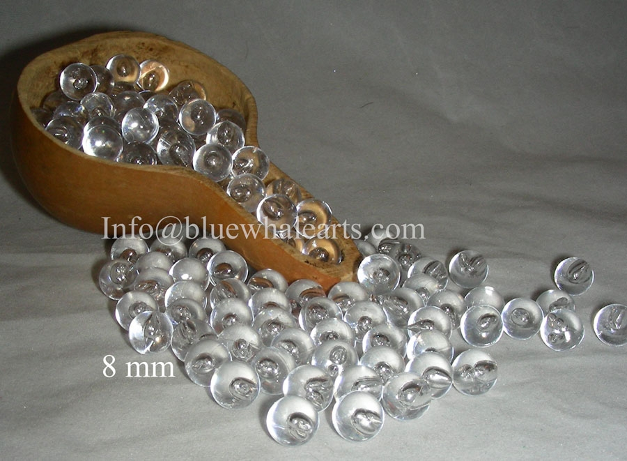 Gourd  Light Beads Clear 8mm no hole turkish beads