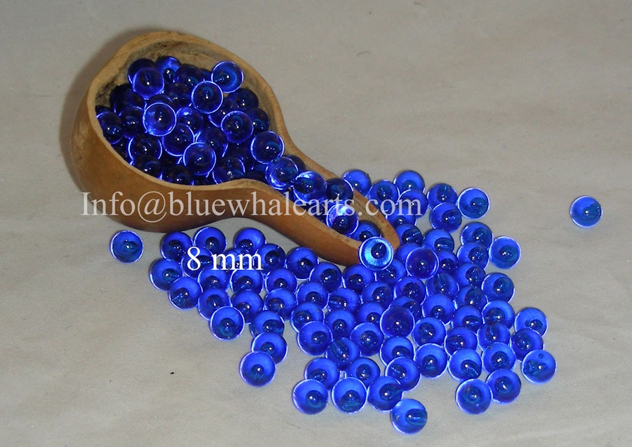 gourd light beads from Turkey Dark Blue 8 mm Turkish gourd beads