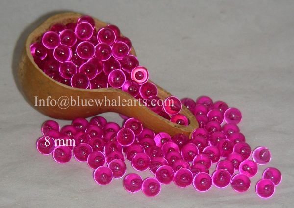 Gourd LIght Beads from turkey Fuchsia 8mm  no hole