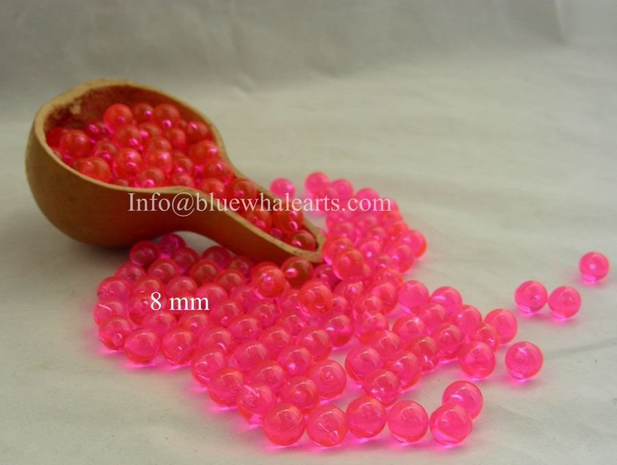 Turkish Light Beads from Turkey Gypsy Pink 8mm no hole beads