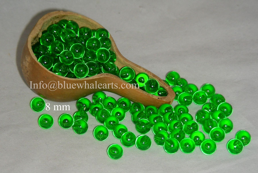 Gourd Light Beads from Turkey Green 8mm turkish beads