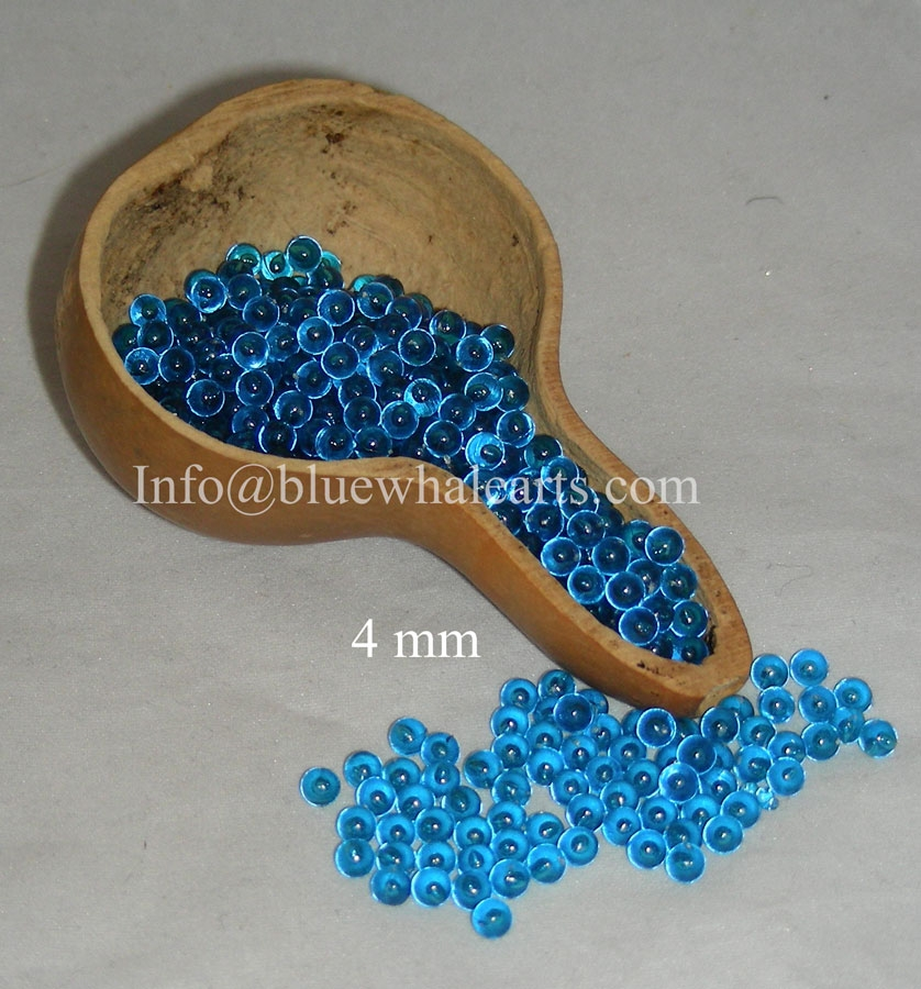 Turkish Beads Teal 4 mm no hole