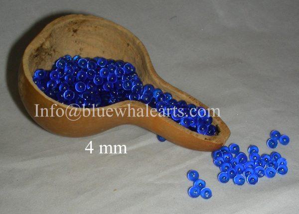 Gourd Light Bead 4mm Evileye blue no hole