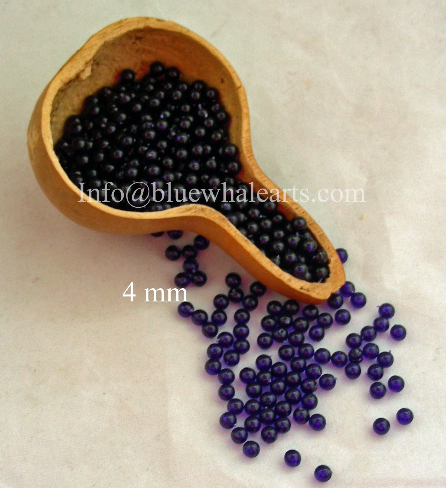 Gourd LIght Beads from Turkey Purple 4mm turkish beads