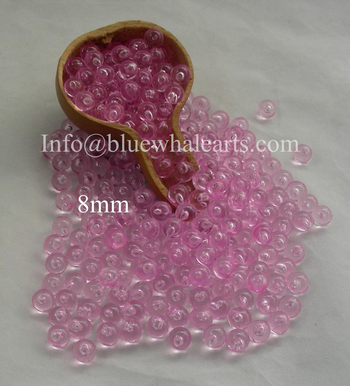 Gourd Light beads 8mm Light Pink no hole