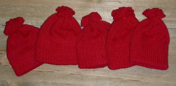 Knit Hat, Doll Hat snowmand, bear