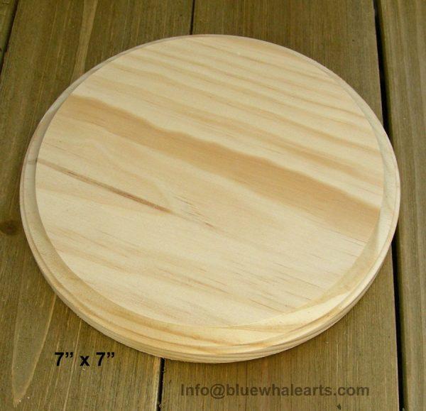 "Round Wood Base plaque 7"""