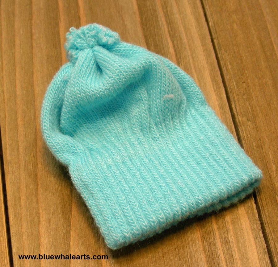 Knit Hat, snowman hat, doll hat