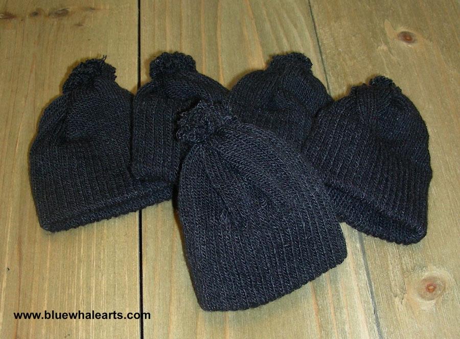 Knit Hat, doll hat, snowman hat