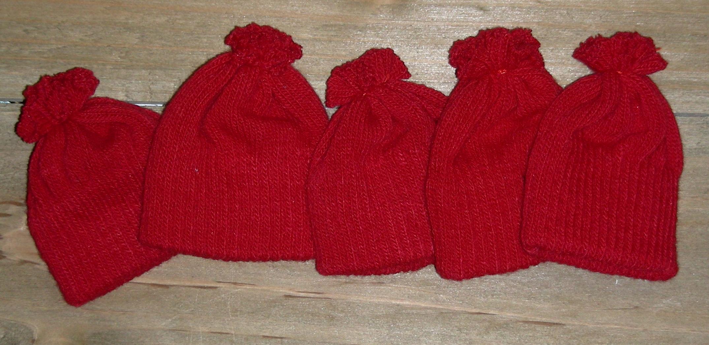 Knit Hats, doll hats, decorative knit hats