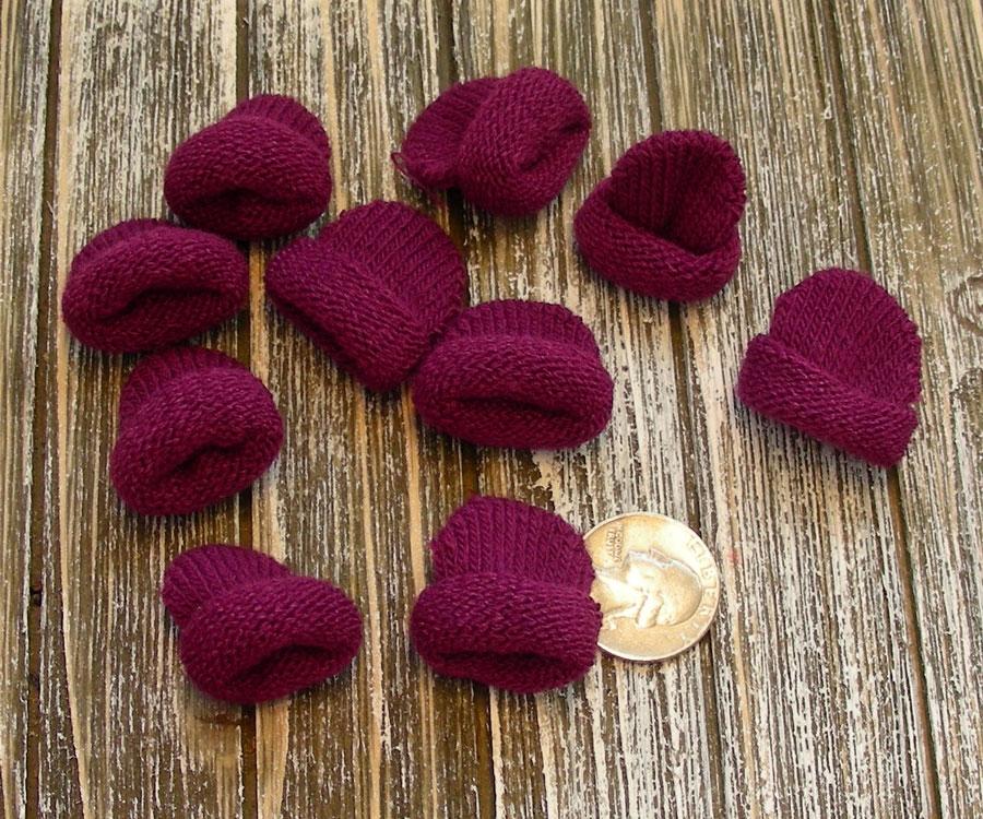 Mini Knit Hat Purple