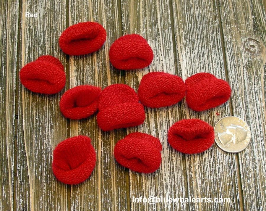 Mini Knit Hat Red