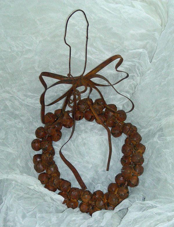 Rustic Bell Ornament Wreath