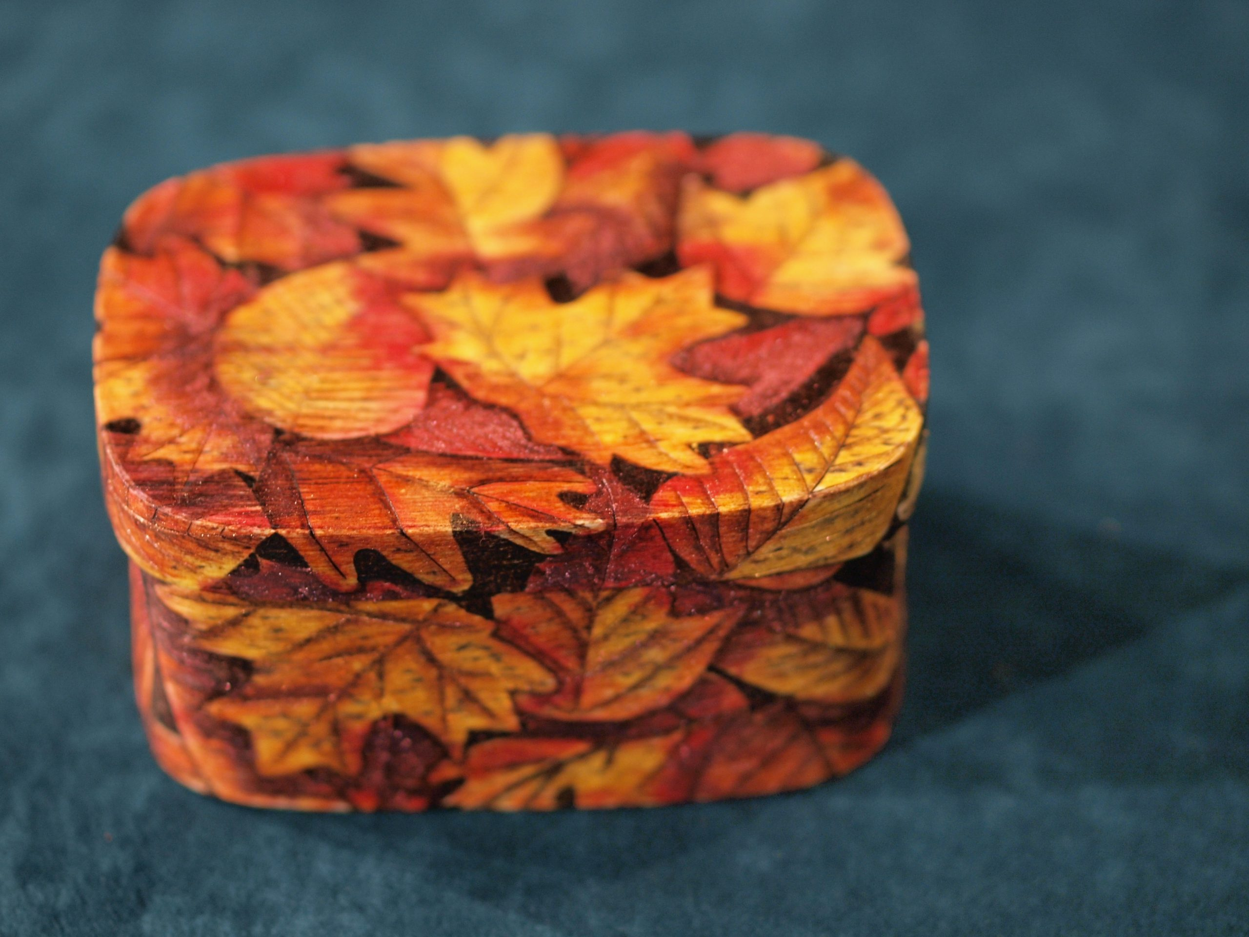 Karen Brown DVD Flaming fall Leaf Box