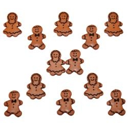 Ginger bread People Dress it up buttons