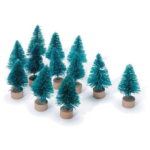"Mini Xmas tree 1"" Sisal Green"
