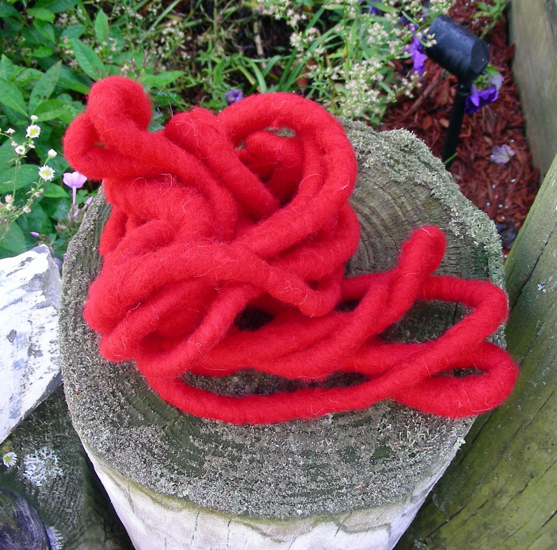 Red Wool Christmas Rope
