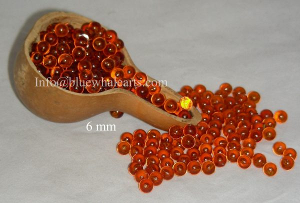 Gourd Beads - No Hole - 6mm Brown