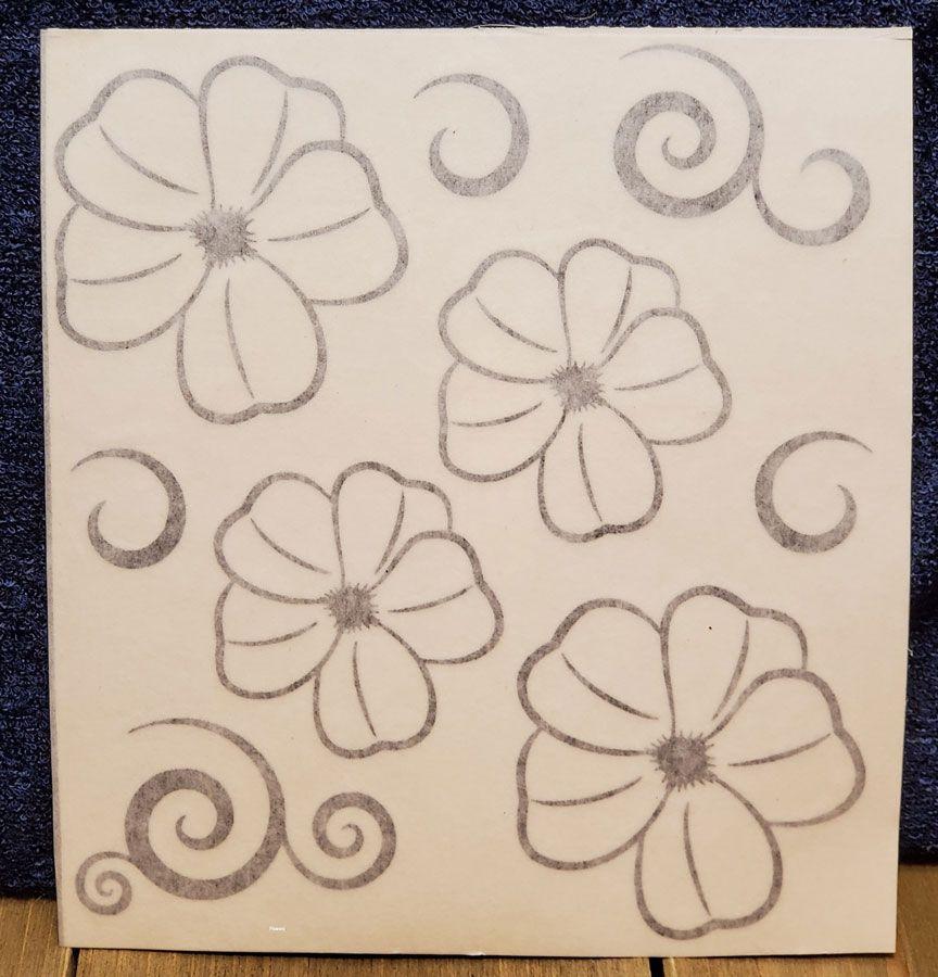 Vinyl Flowers with swirls