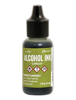 Tim Holtz Alcohol Ink Lettuce