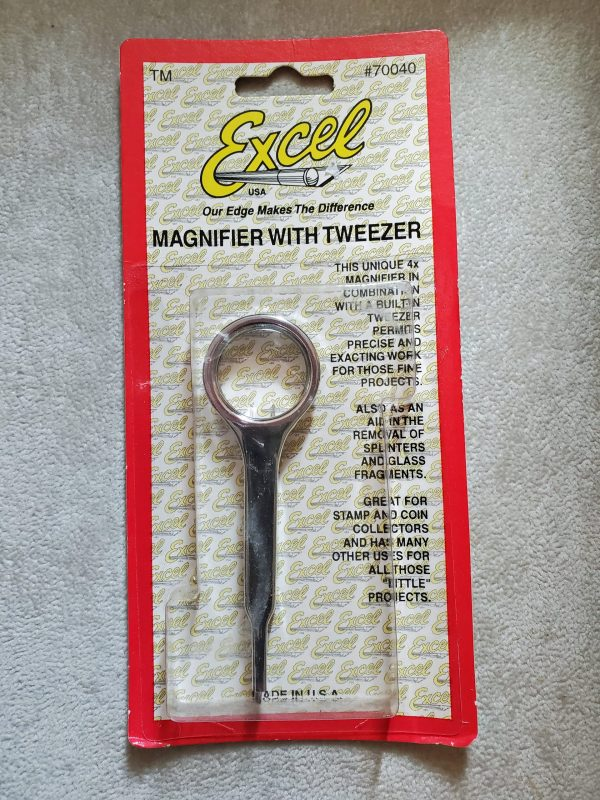 Magnifier with Tweezer