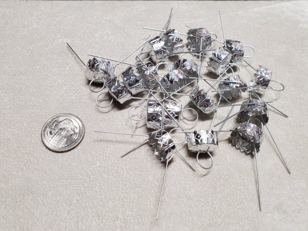 15 mm silver 20 pc